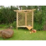 Pergola Narożna z ławką ogrodową