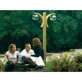 Oryginalne lampy parkowe z dwoma łukami