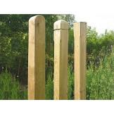 Ozdobne drewniane słupki do płotów