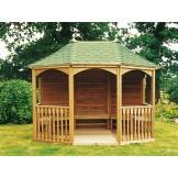 Lords eksluzywny pawilon ogrodowy z dachem pokrytym gontem