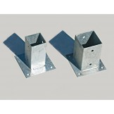 Podstawka metalowa do słupków na beton lub kostkę brukową