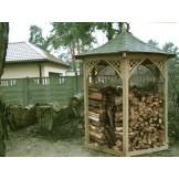 Altanka zadaszenie na 6m3 drewna kominkowego