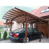 Garaż z dachem łukowym kryty poliwęglanem typ Colorado