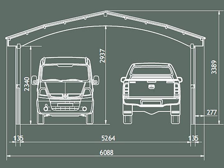 Garaż Na Dwa Samochody Typ Nevada Ii