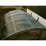 Dach do garażu PCV trapezowy lity