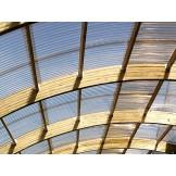 Dach garażu z poliwęglanu trapezowego