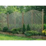 Pergola ogrodowa szerokości 183cm z łukiem omega