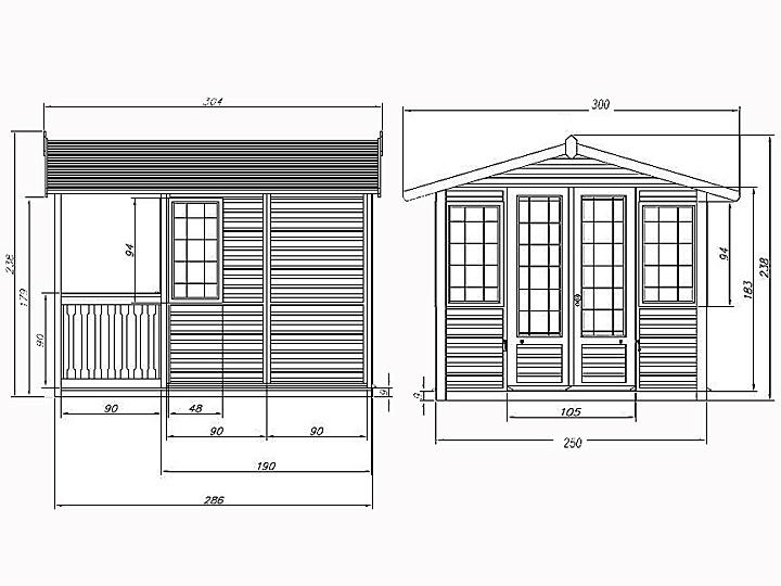 Bardzo dobra Domek drewniany Clasic Summerhouse IV05